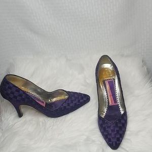 Susan Bennis Warren Edwards purple heels size 9